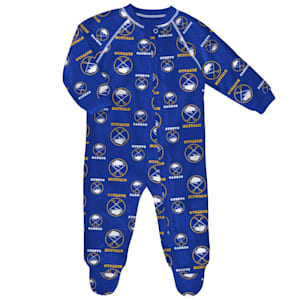 Outerstuff Raglan Zip Up Coverall - Buffalo Sabres - Infant