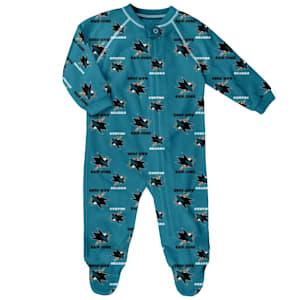 Outerstuff Raglan Zip Up Coverall - San Jose Sharks - Newborn