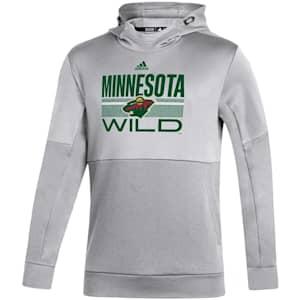 Adidas Hockey Grind Pullover Hoodie - Minnesota Wild - Adult