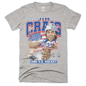 Streaker Sports 1980 USA Jim Craig Caricature Tee - Adult