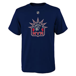 Adidas New York Rangers Reverse Retro Short Sleeve Tee - Youth