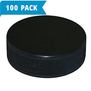 Official Ice Hockey Puck - Black - 6 Ounce - 100-Pack