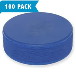 Ice Hockey Practice Puck - Mite Blue 4 Ounce - 100-Pack