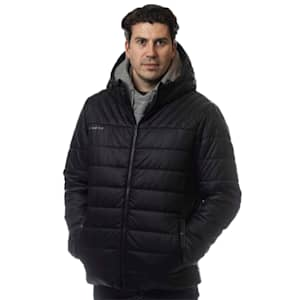 Bauer Supreme Hooded Puffer Jacket - Black - Adult