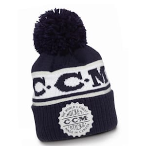 CCM Heritage Cuffed Pom Knit Hat - Adult