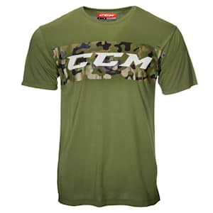 CCM Camo Grit Stripe Short Sleeve Tee Shirt - Adult