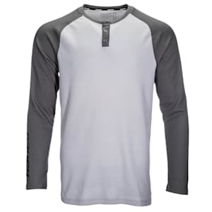 Bauer Long Sleeve Henley - Adult