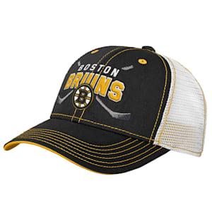 Adidas Core Lockup Meshback Adjustable Hat - Boston Bruins - Youth