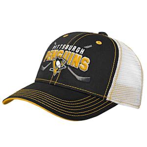 Adidas Core Lockup Meshback Adjustable Hat - Pittsburgh Penguins - Youth