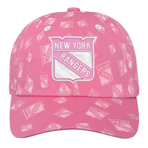 Adidas Pink Fashion Slouch Adjustable Hat - New York Rangers - Youth