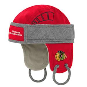 Adidas Kids Fleece Hockey Helmet – Chicago Blackhawks - Youth