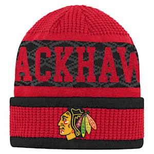 Adidas Puck Pattern Cuffed Knit - Chicago Blackhawks - Youth