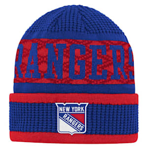 Outerstuff Puck Pattern Cuffed Knit - New York Rangers - Youth