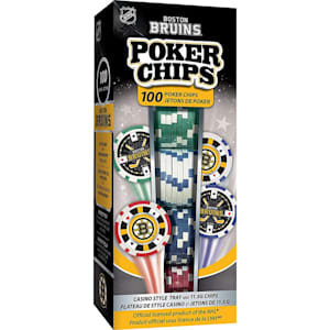 MasterPieces 100 Pack Poker Chips - Boston Bruins