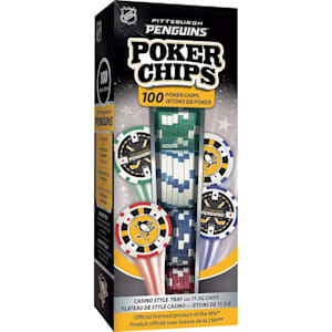 MasterPieces 100 Pack Poker Chips - Pittsburgh Penguins