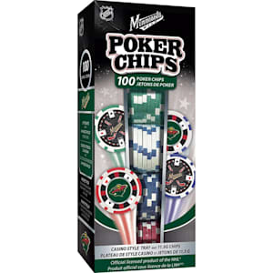 MasterPieces 100 Pack Poker Chips - Minnesota Wild