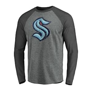 Fanatics Vintage Long Sleeve Raglan T-Shirt - Seattle Kraken - Adult