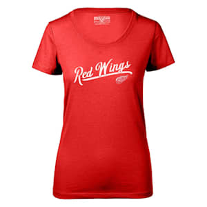 Levelwear First Edition Daily Short Sleeve Tee Shirt - Detroit Red Wings - Womens