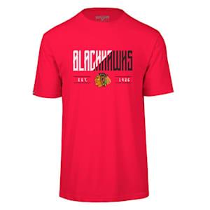 Levelwear Splitter Richmond Short Sleeve Tee Shirt - Chicago Blackhawks - Adult