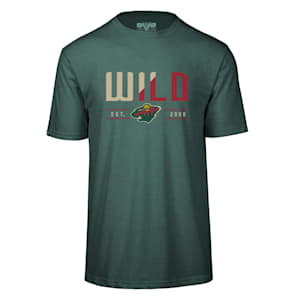 Levelwear Splitter Richmond Short Sleeve Tee Shirt - Minnesota Wild - Adult