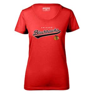 Levelwear Tail Sweep Daily Short Sleeve Tee Shirt - Chicago Blackhawks - Womens