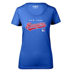Levelwear Tail Sweep Daily Short Sleeve Tee Shirt - New York Rangers - Womens