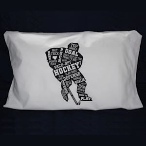 Painted Pastimes Hockey Player Pillow Case - Glow in the Dark