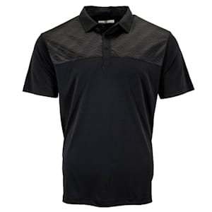 Pure Hockey Sticks Geo Golf Polo - Black - Adult