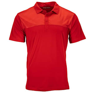 Pure Hockey Sticks Geo Golf Polo - Red - Adult