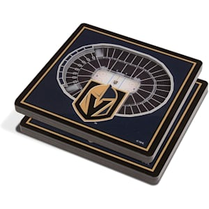 YouTheFan NHL 3D StadiumView Coaster 2 Pack - Vegas Golden Knights