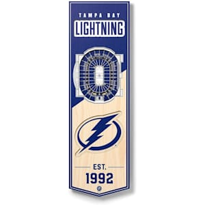 YouTheFan NHL 3D Stadium Banner 6x19 - Tampa Bay Lightning