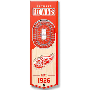 YouTheFan NHL 3D Stadium Banner 6x19 - Detroit Red Wings