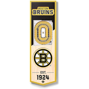 YouTheFan NHL 3D Stadium Banner 6x19 - Boston Bruins