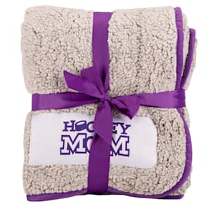 Logo Brands Hockey Mom Frosty Fleece Blanket
