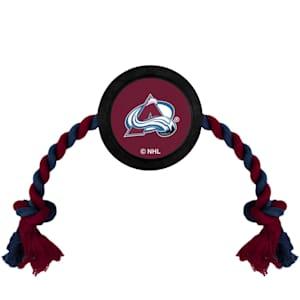 Hockey Puck Pet Toy - Colorado Avalanche