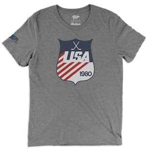 Streaker Sports 1980 USA Hockey Shield Tee - Adult