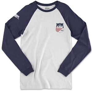 Streaker Sports 1980 USA Hockey Long Sleeve Raglan Shirt - Adult