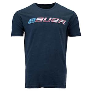 Bauer Flag Graphic Short Sleeve Tee Shirt - Adult