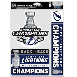 Wincraft 2021 Stanley Cup Champion Fan Decal Pack - Tampa Bay Lightning