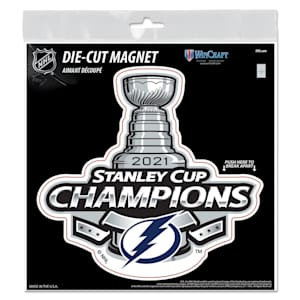 Wincraft 2021 Stanley Cup Champion Die Cut Magnet - Tampa Bay Lightning