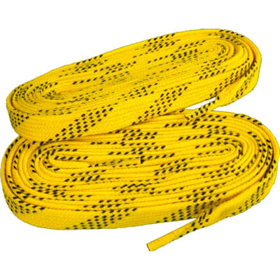 Yellow/Black (Elite Hockey Pro-X7 Molded Tipped Laces)