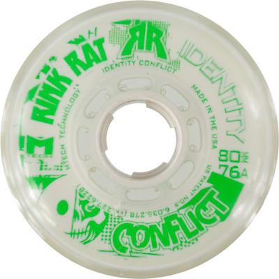 White/Green (Rink Rat Identity Conflict Inline Wheel)