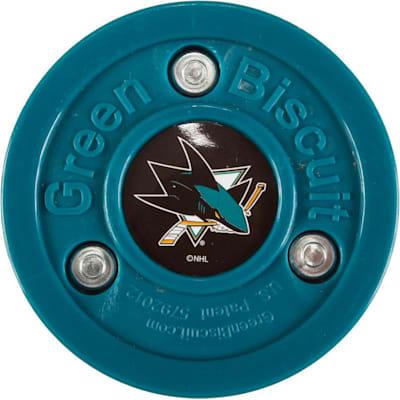 San Jose Sharks (Green Biscuit NHL Team Logo Puck)