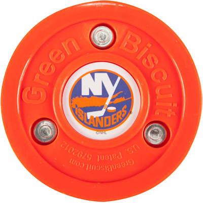 New York Islanders (Green Biscuit NHL Team Logo Puck)