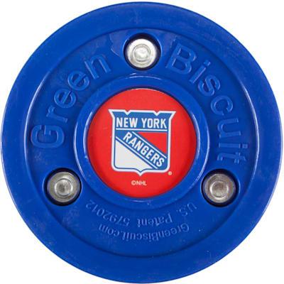 New York Rangers (Green Biscuit NHL Team Logo Puck)