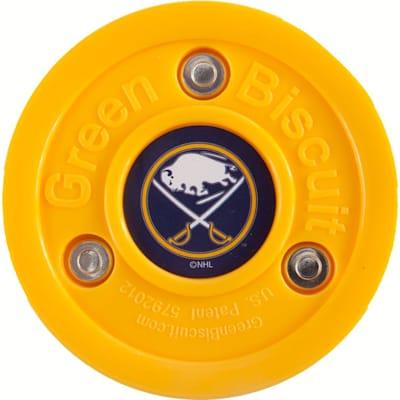 Buffalo Sabres (Green Biscuit NHL Team Logo Puck)
