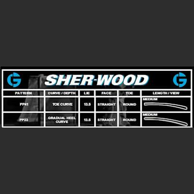 Blade Chart (Sher-Wood GS150 Foam Core Goalie Stick - Senior)