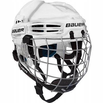 White (Bauer Prodigy Hockey Helmet Combo - Youth)