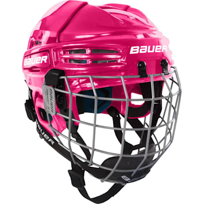 Pink (Bauer Prodigy Hockey Helmet Combo - Youth)