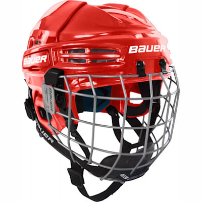 Red (Bauer Prodigy Hockey Helmet Combo - Youth)
